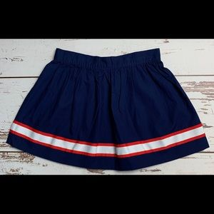 NWT GYMBOREE Navy Blue Red Ribbon Striped Skirt 5